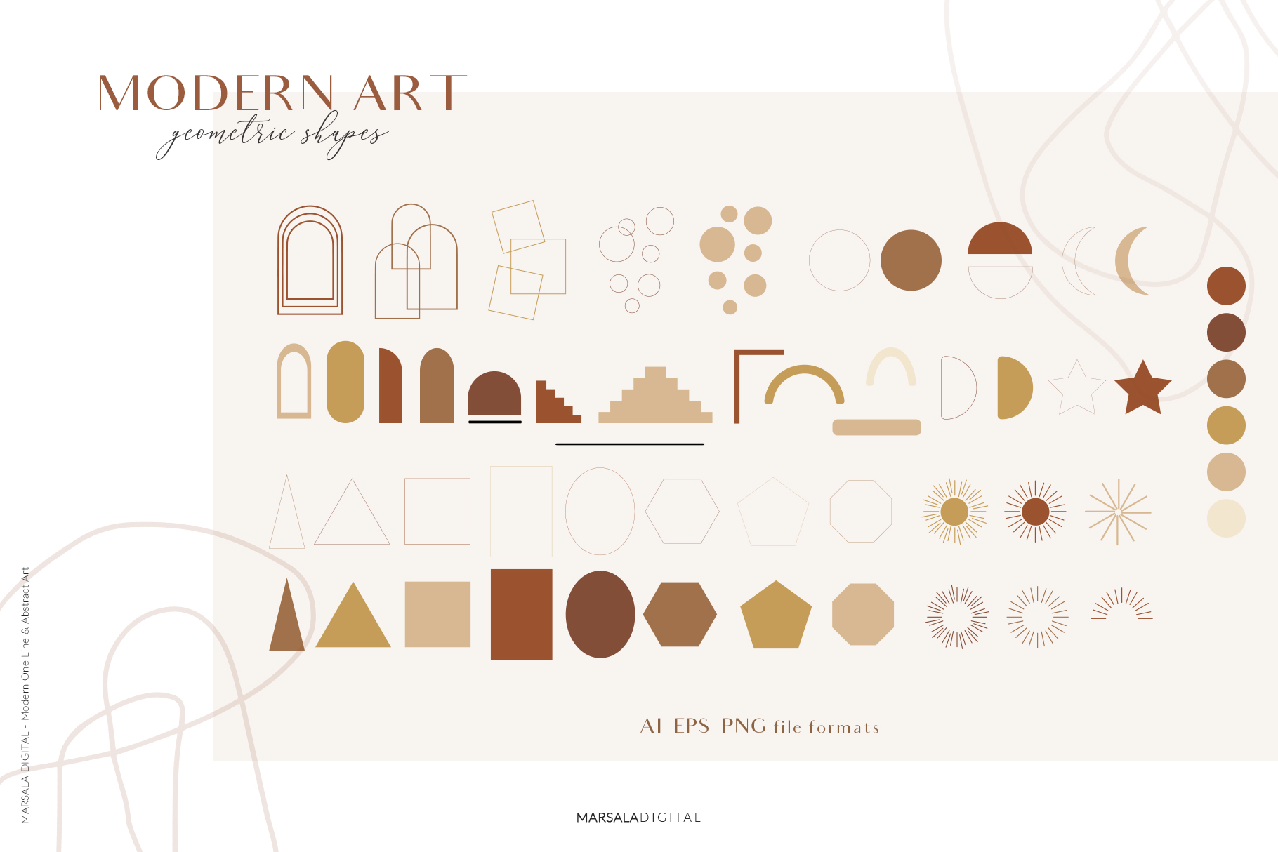 MODERN ART One Line and Abstract Graphics Prints example image 17