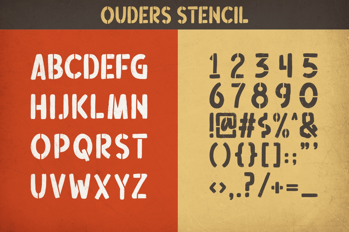 Ouders - Stencil & Regular Font example image 10