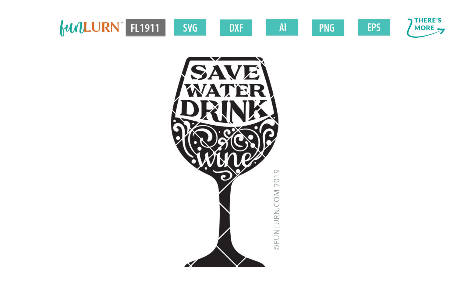 Save Water Drink Wine SVG Cut File example image 2