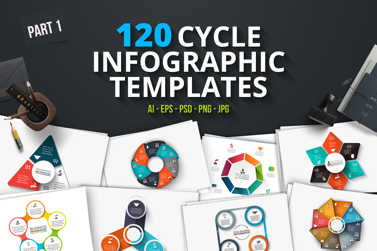 120 cycle infographics (part 1) example image 1