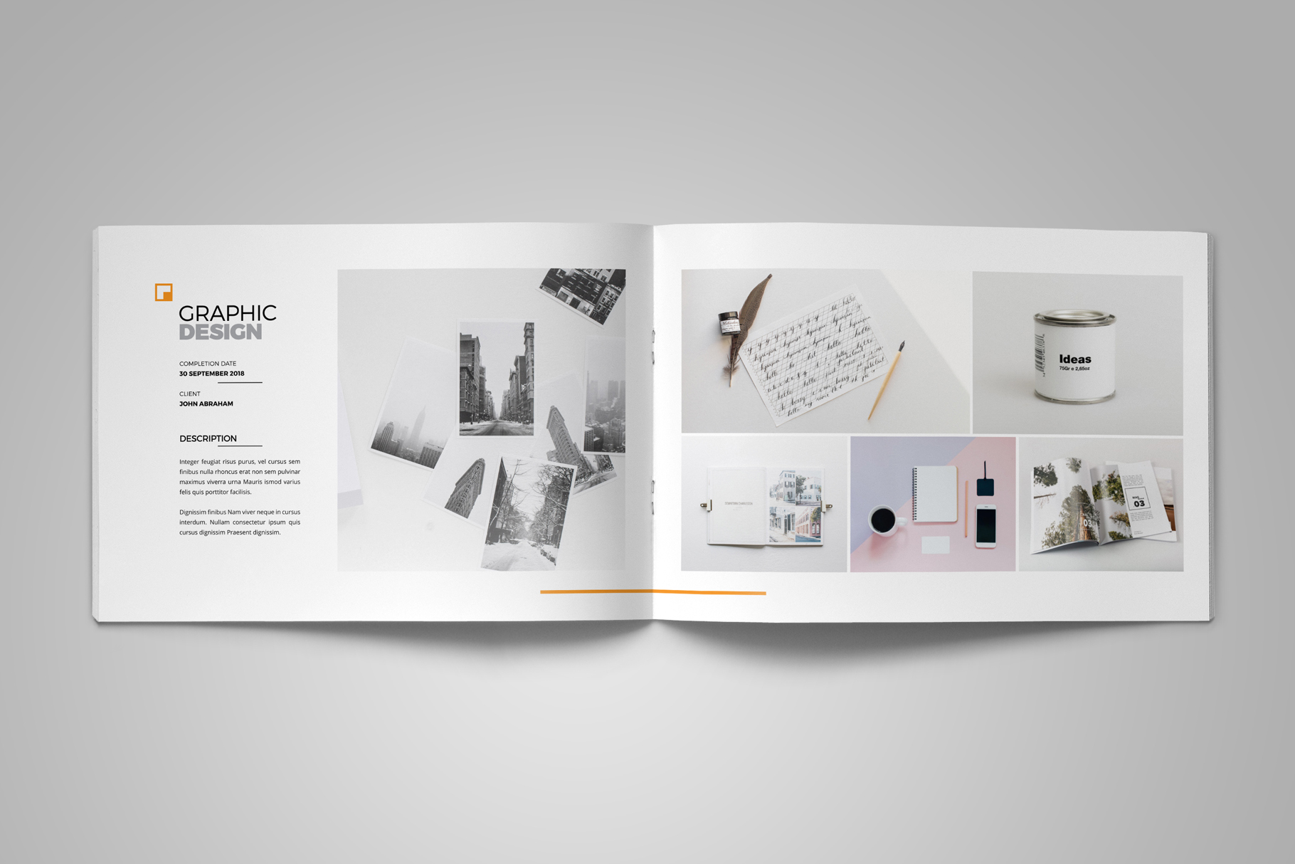 Portfolio Brochure Design v5 example image 6