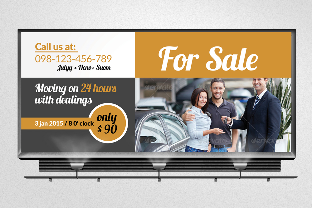 Car Sale Billboard Banners example image 2