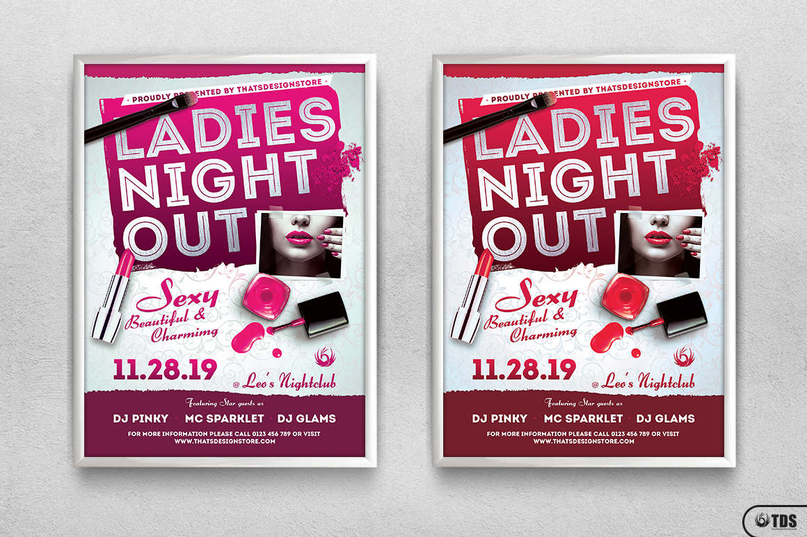 Girls Night Out Flyer Template example image 8