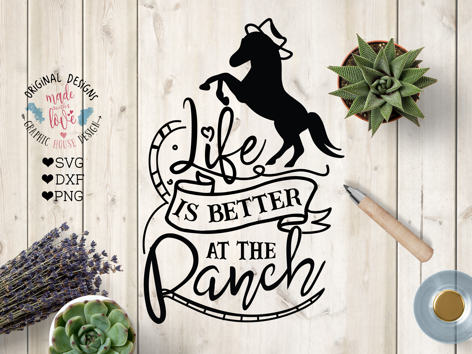 Life is Better At the Ranch Cut File example image 1
