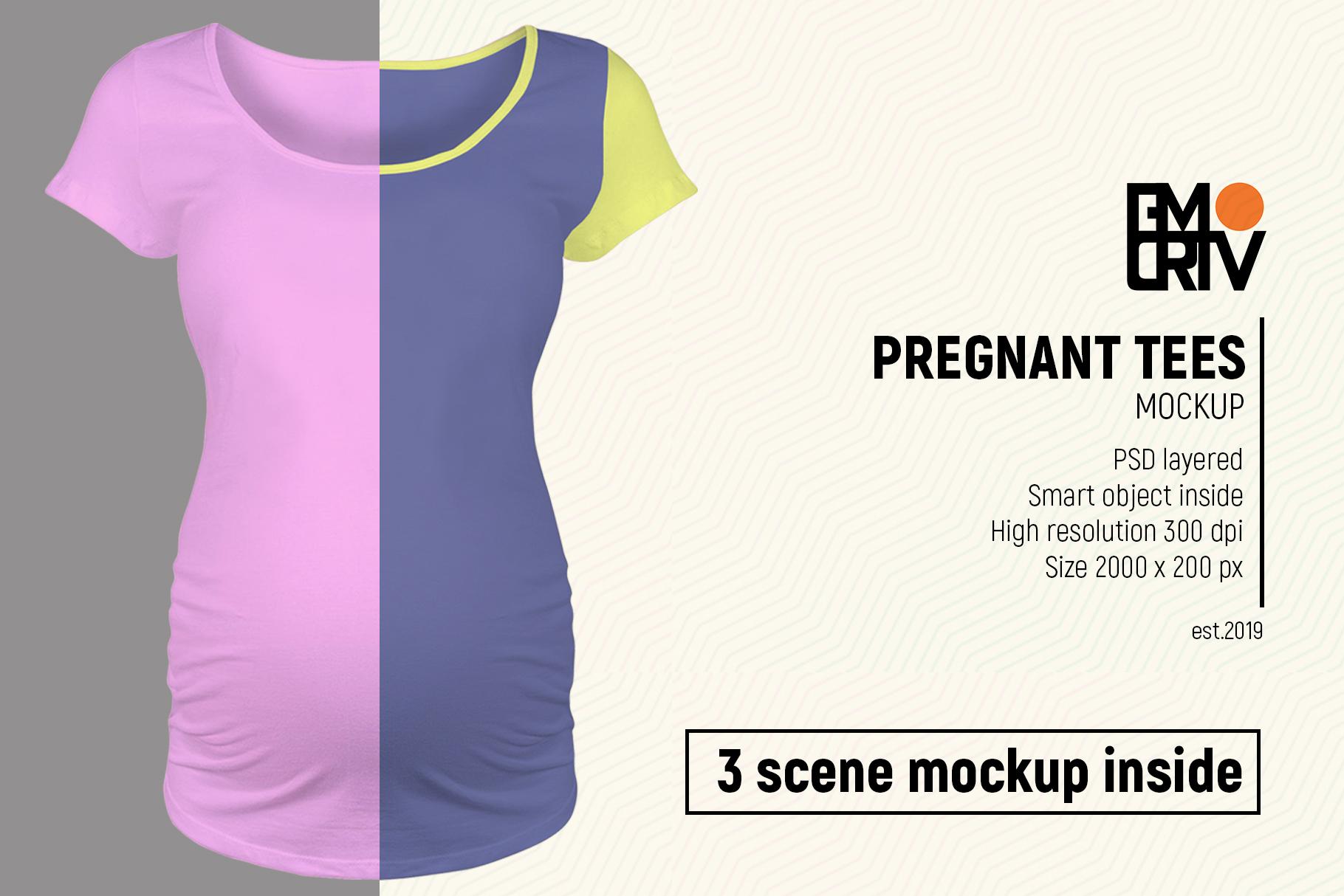 Pregnant Tees Mockup