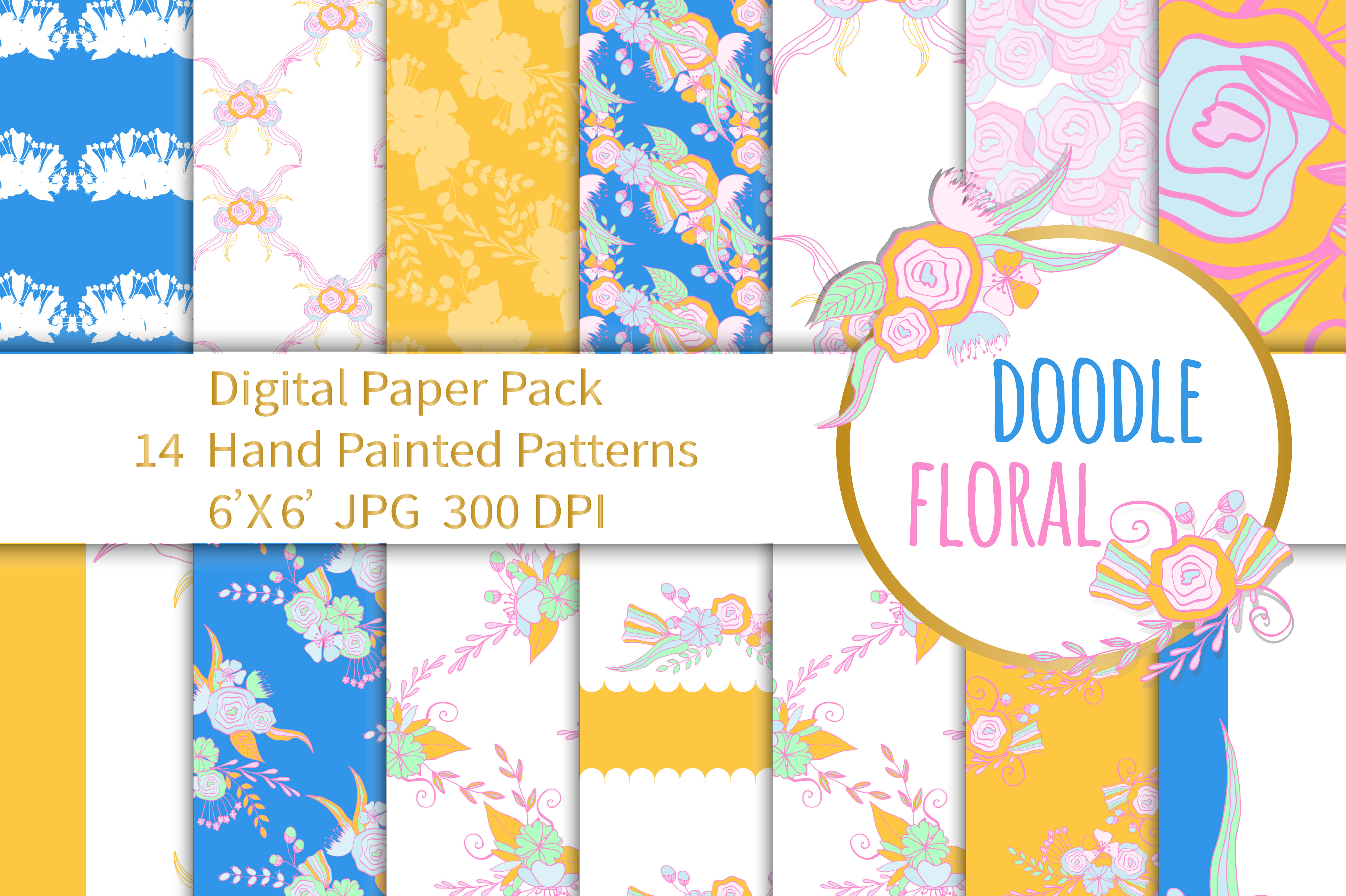 Botanical Paper Pack Seamless Patterns example image 1