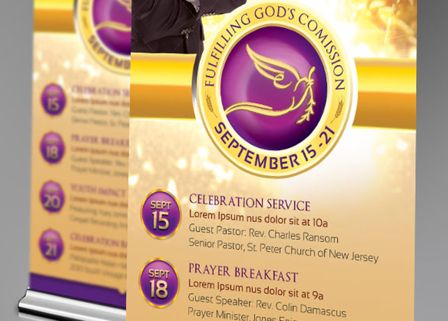 Clergy Anniversary Banner Template example image 2