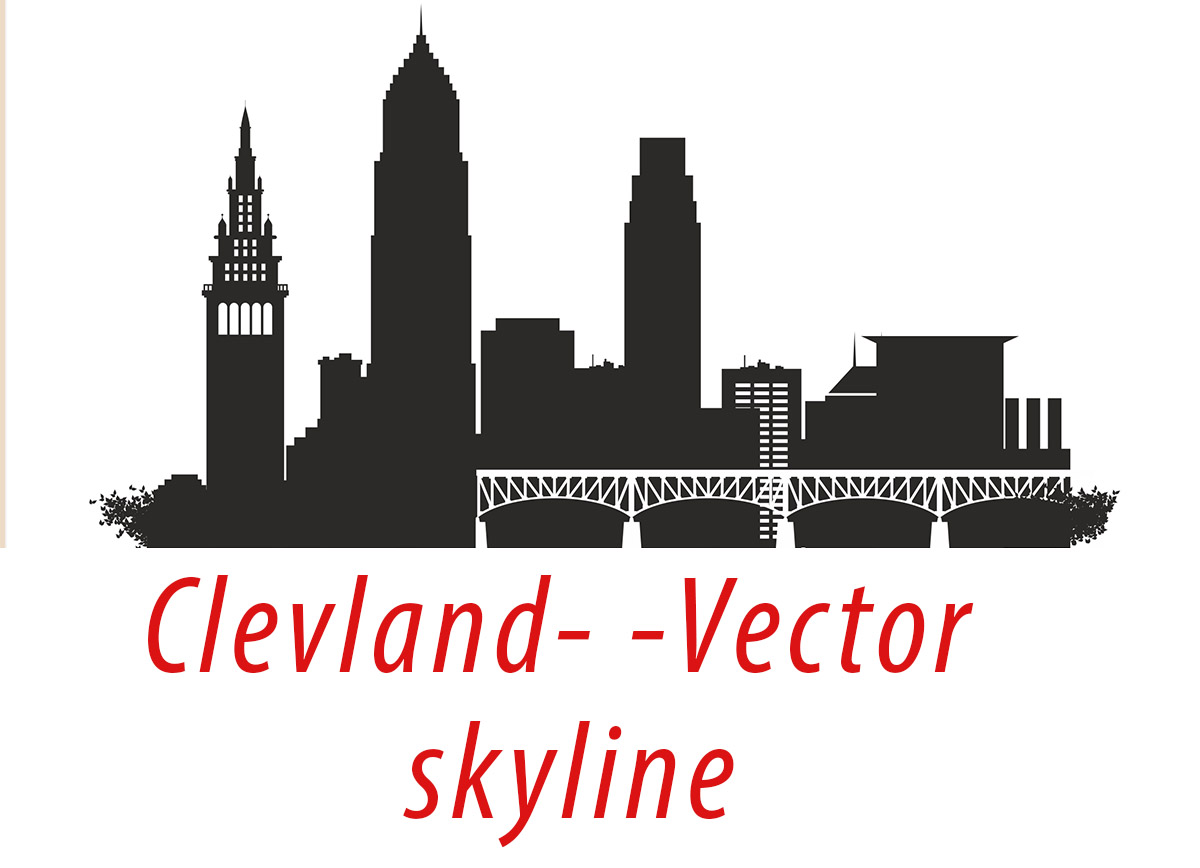 Cleveland Vector Ohio Skyline Usa City Svg Jpg Png