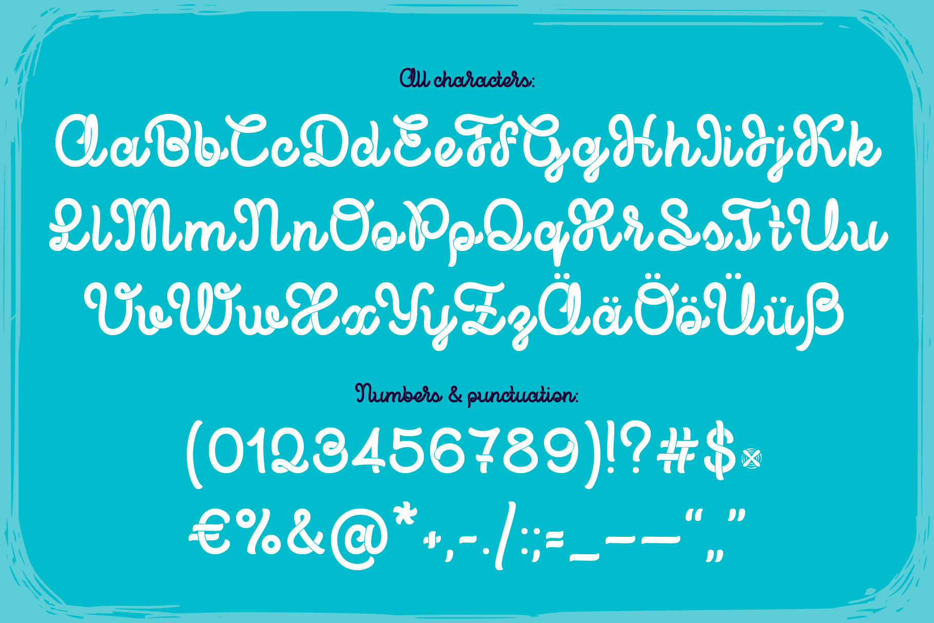 Propeller font illustration example image 4