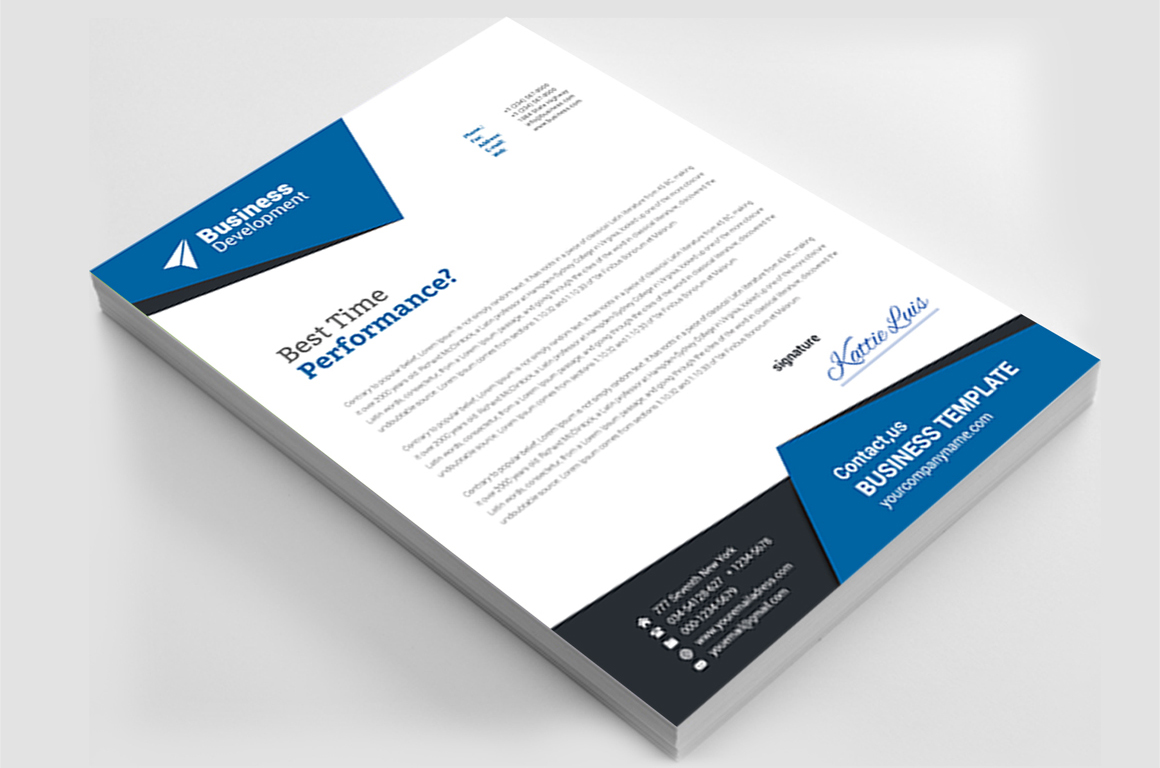 12 Clean Rsume Invoice and Letterhead Bundle example image 20