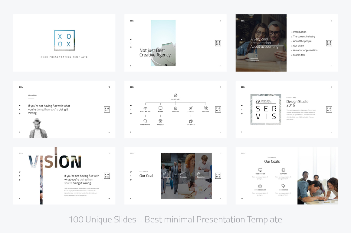 XOXO-Minimal Powerpoint Template example image 2