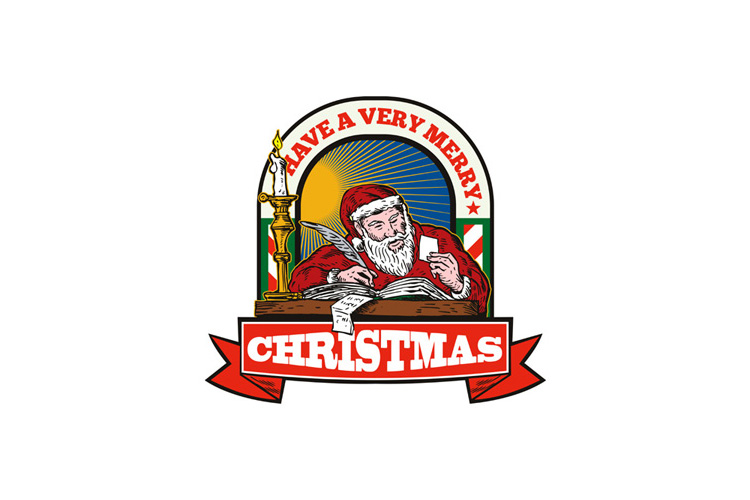 Santa Claus Father Christmas Writing Letter example image 1
