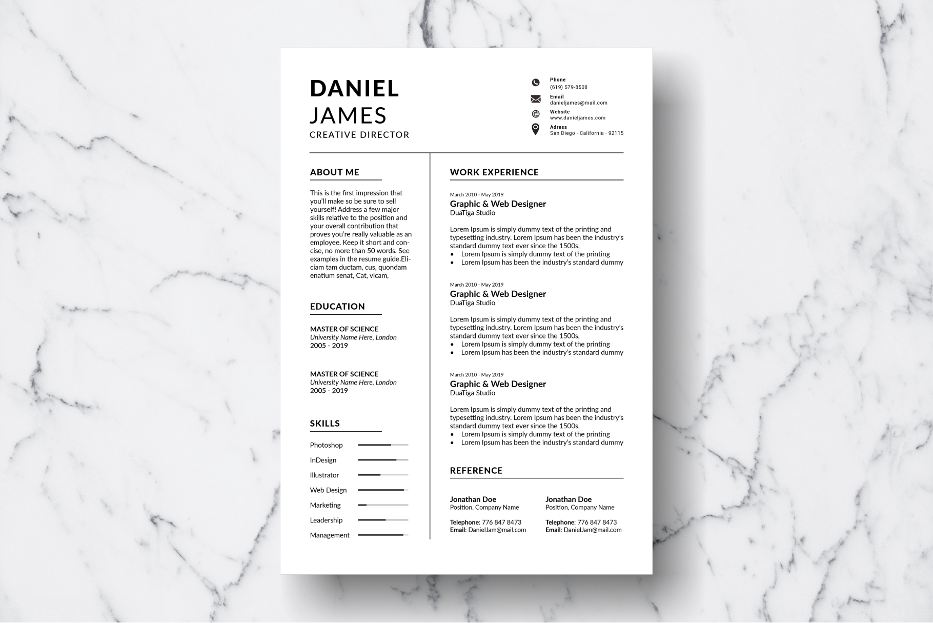 Resume Template Vol. 11 example image 2