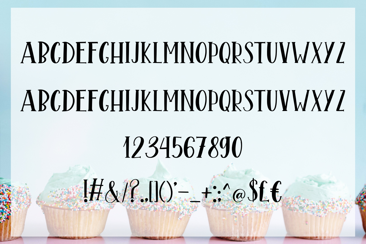 Mint Cupcake Font Duo example image 6