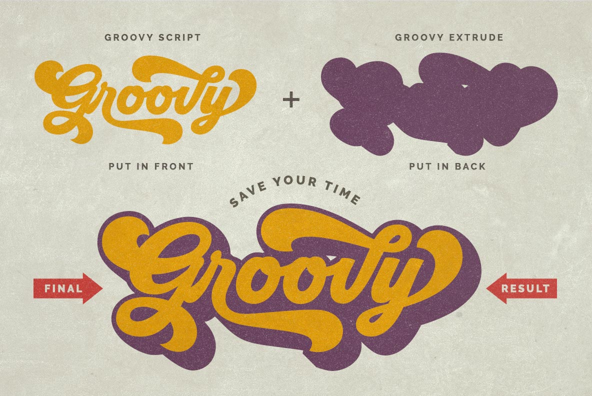 Groovy - Retro Font example image 2