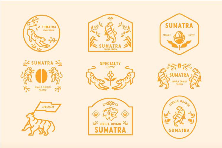 Sumartra coffee badge example image 2