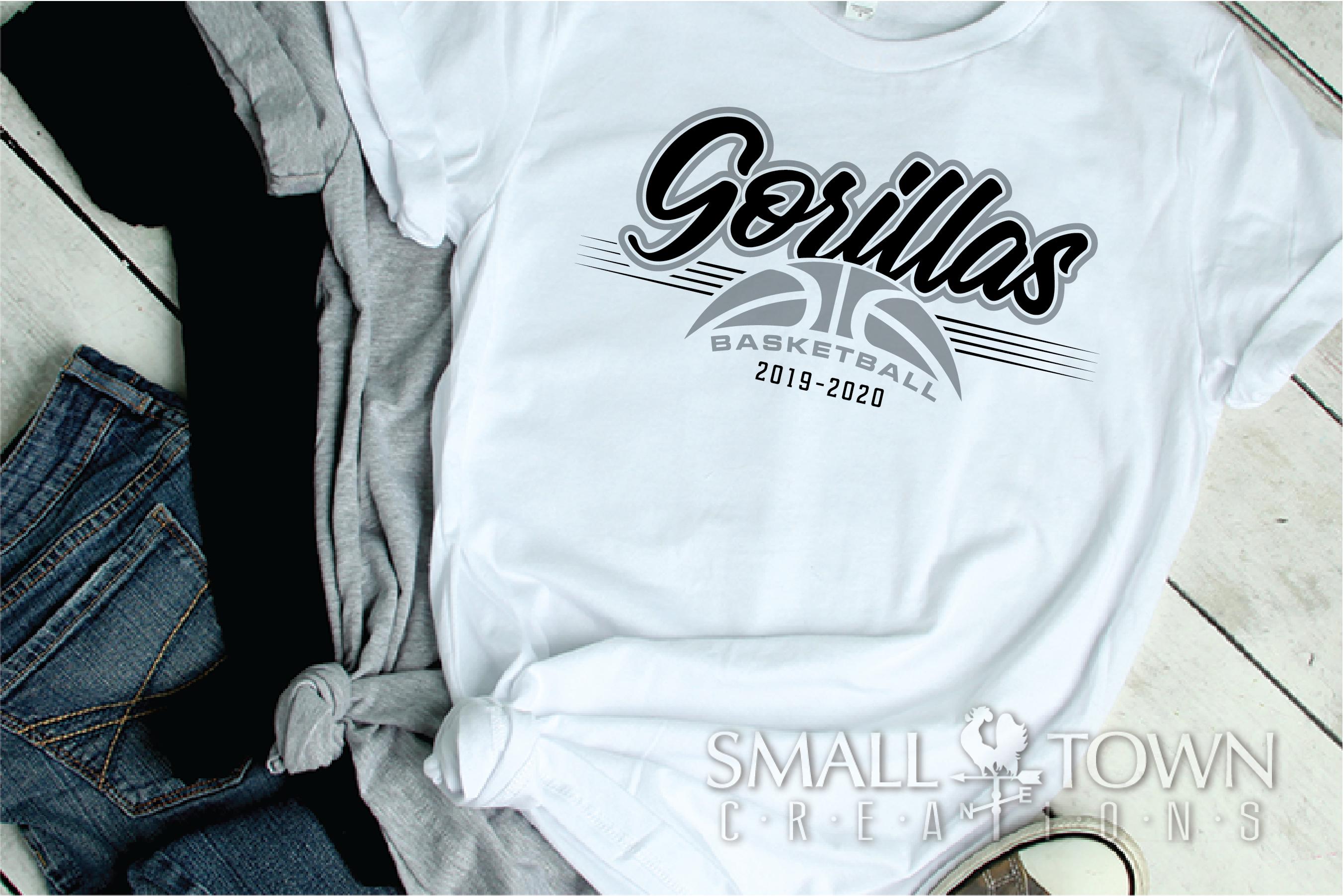 Gorilla, Basketball, Sport, Design, PRINT, CUT, DESIGN example image 2
