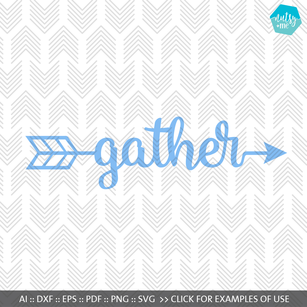 Gather Arrow - SVG, AI, EPS, PDF, DXF & PNG FILES example image 1