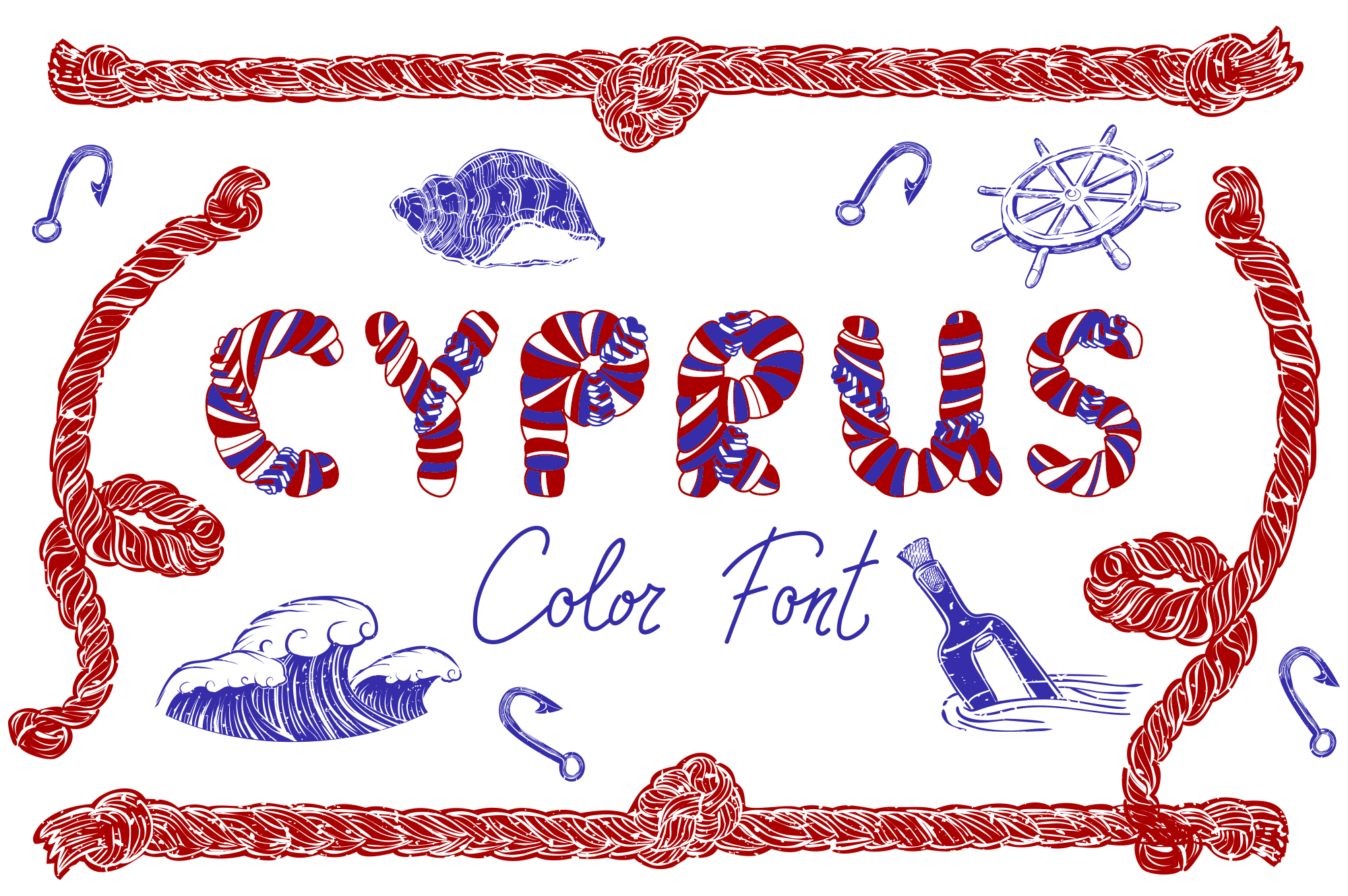 CYPRUS Colour Font example image 1