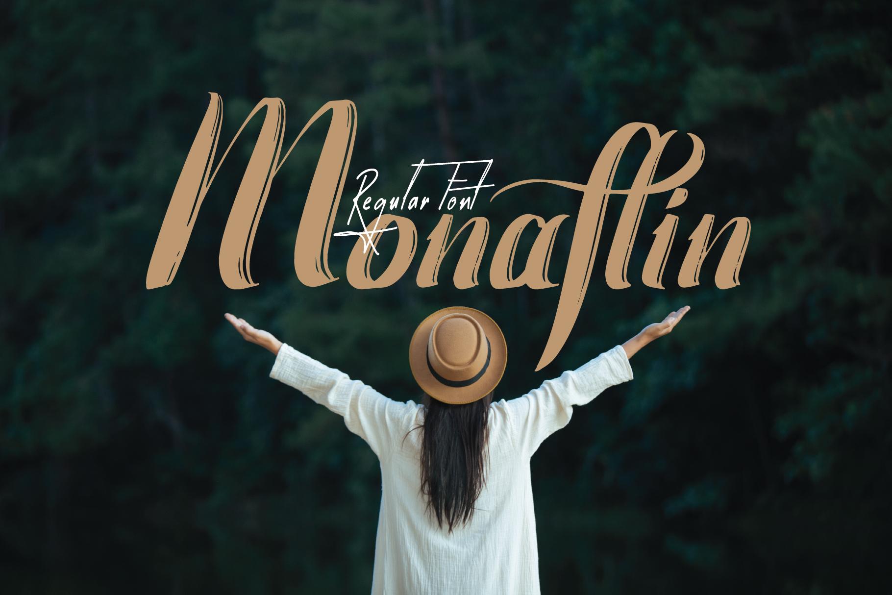 Monaflin Regular Font example image 6