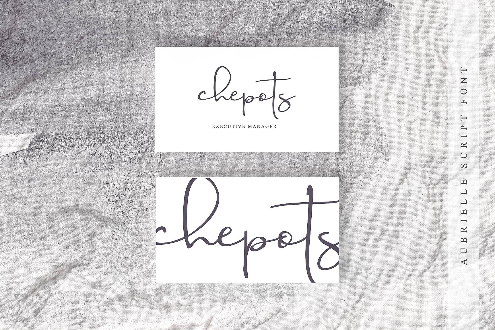 Aubrielle Script Font example image 6