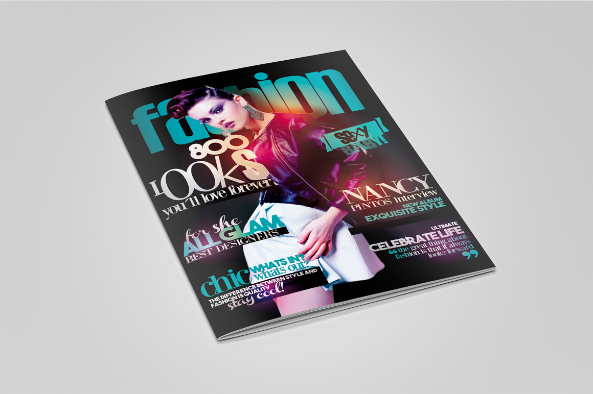 Glam Magazine Cover Flyer Template example image 2