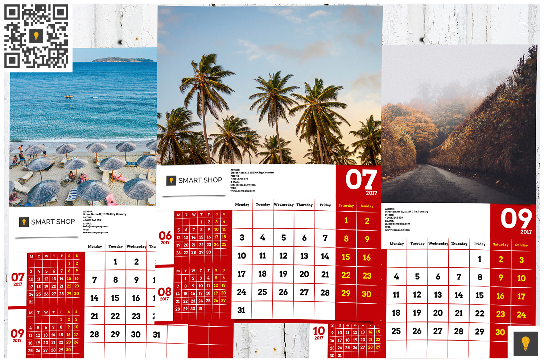 2017 Wall Calendar example image 6