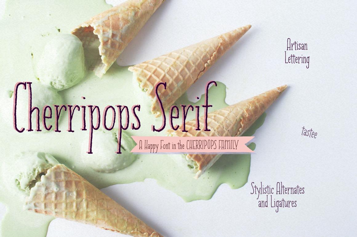 Cherripops Serif example image 1