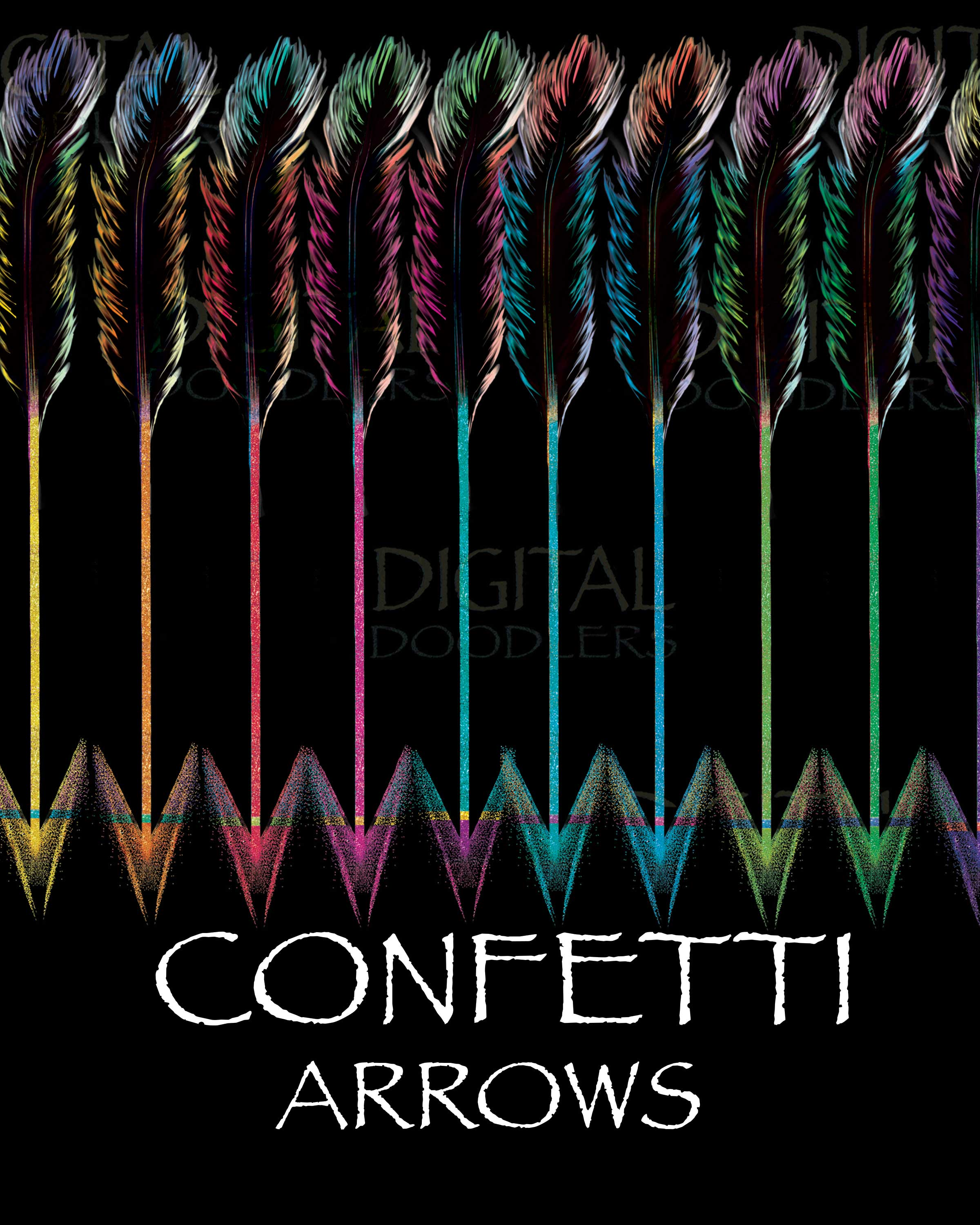 Watercolor Confetti Arrows with Feathers & Beads example image 6