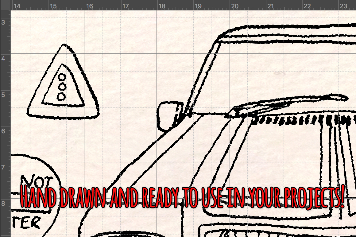 66 Cars and Road Transport Vector Sketches example image 3