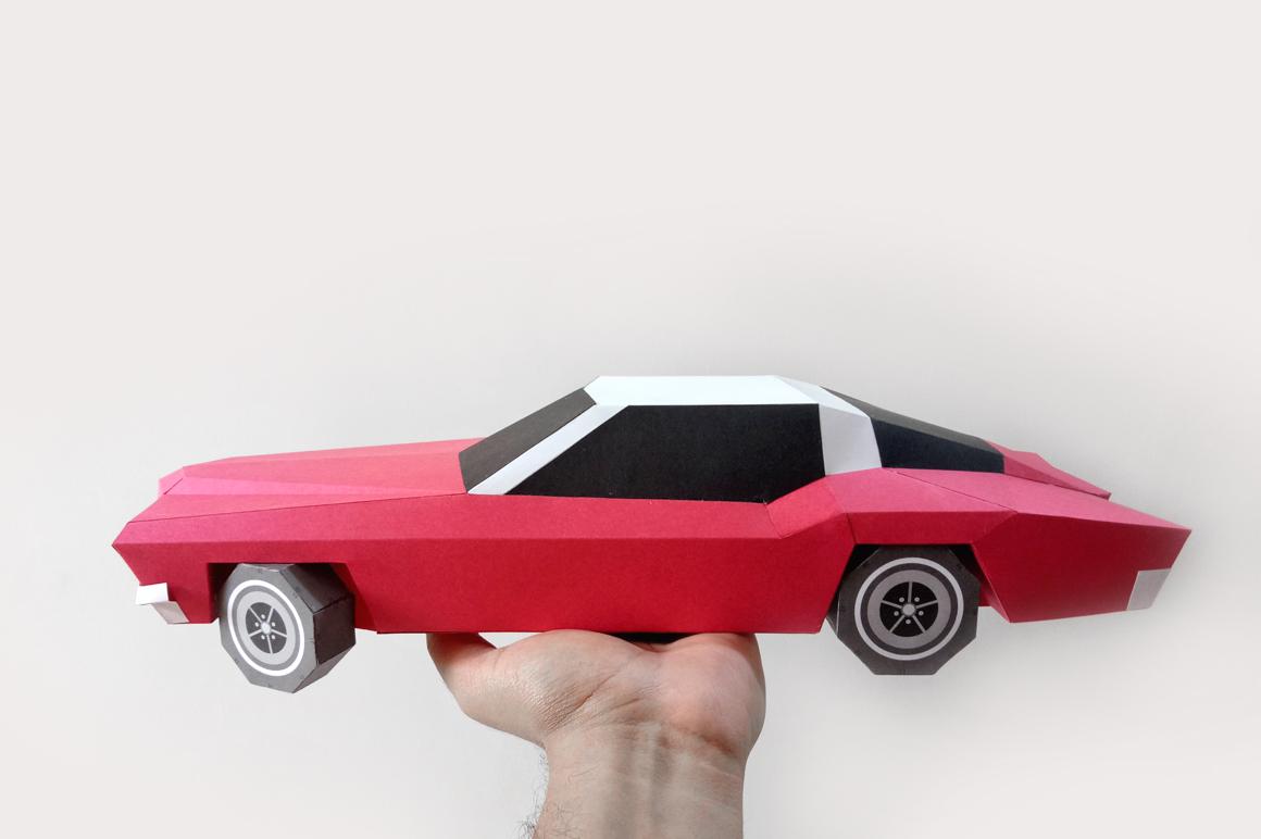 DIY Classic Car - 3d papercraft example image 4
