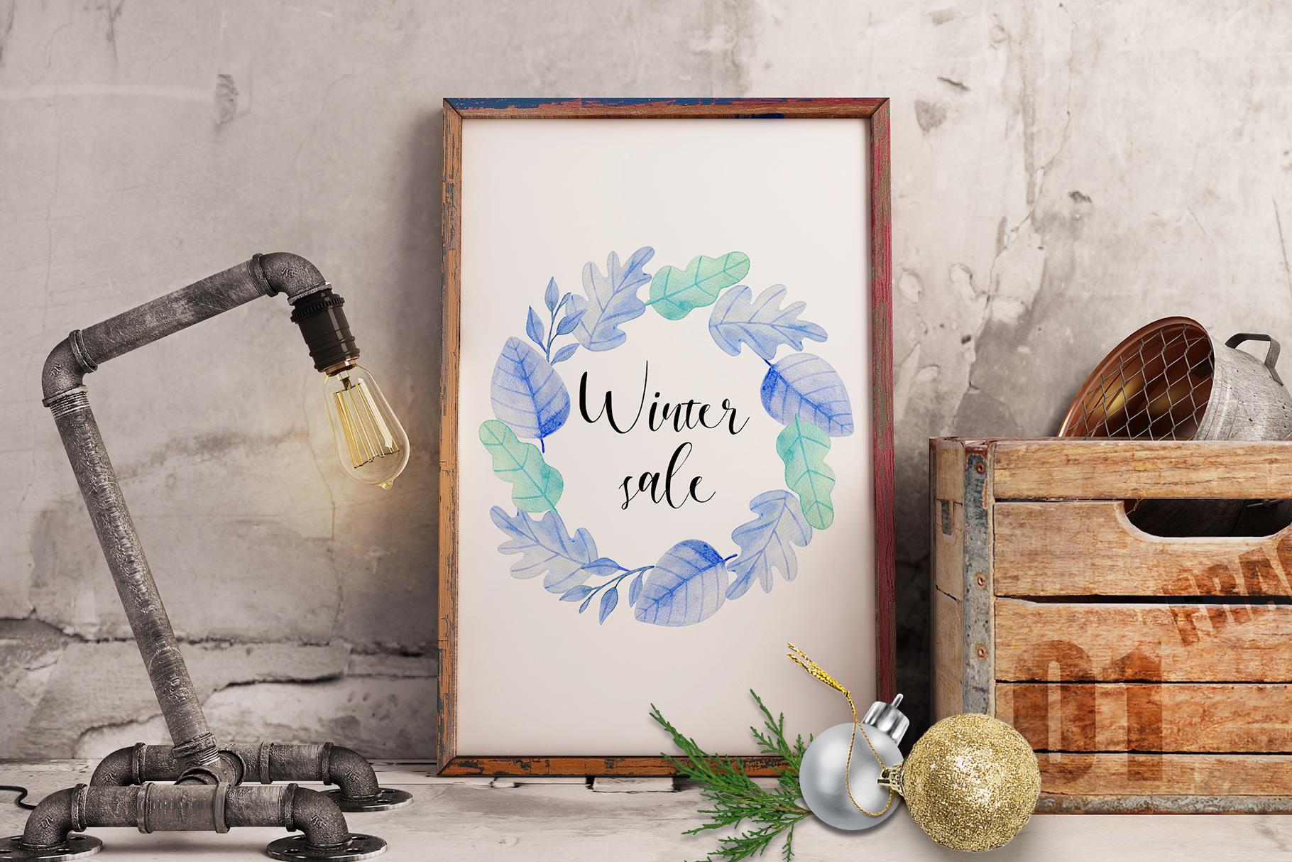 Winter Watercolor Design Kit example image 10