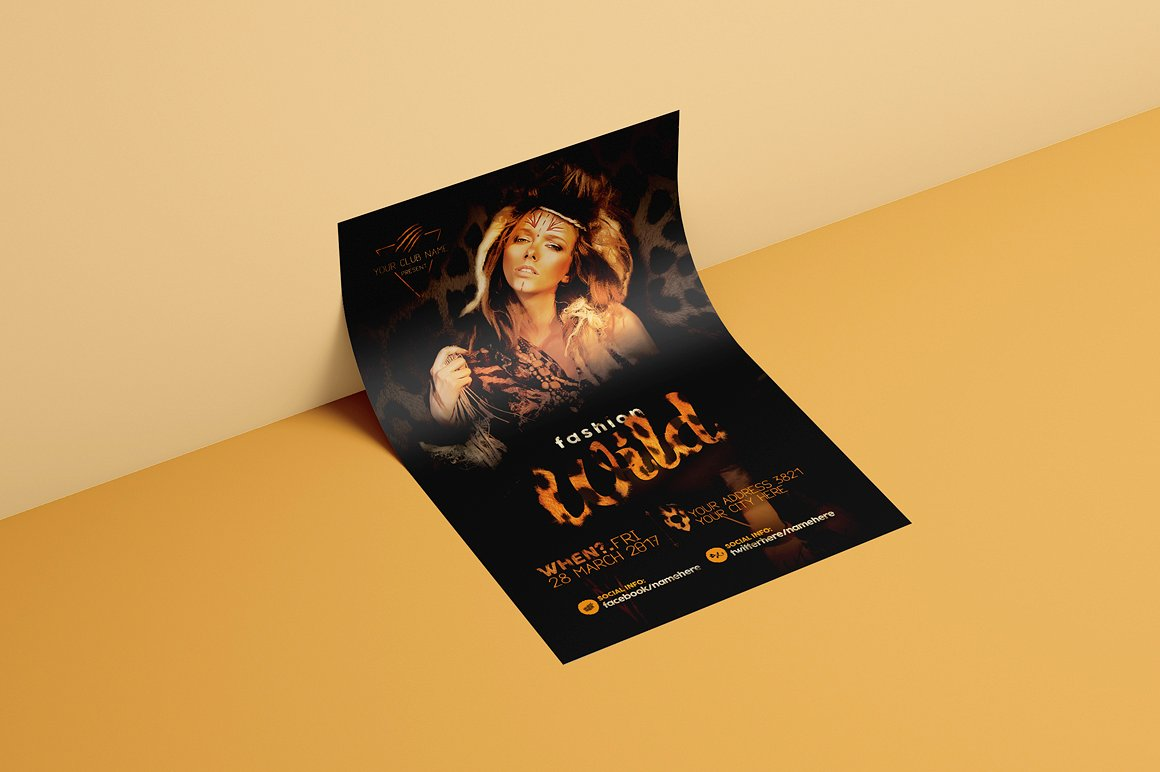 Fashion Wild Flyer Template example image 3