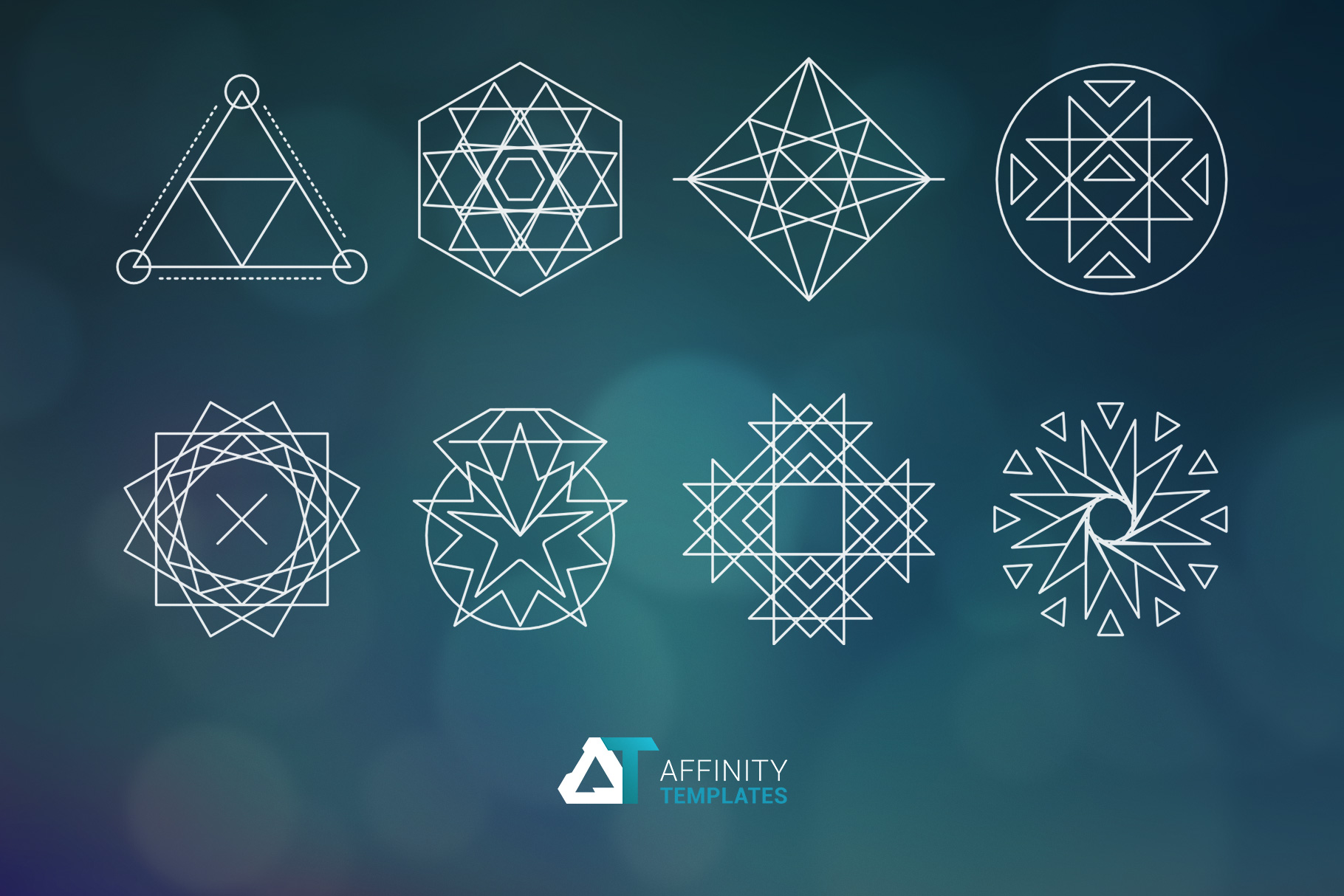 Sacred Geometry Vector Shapes Set example image 2