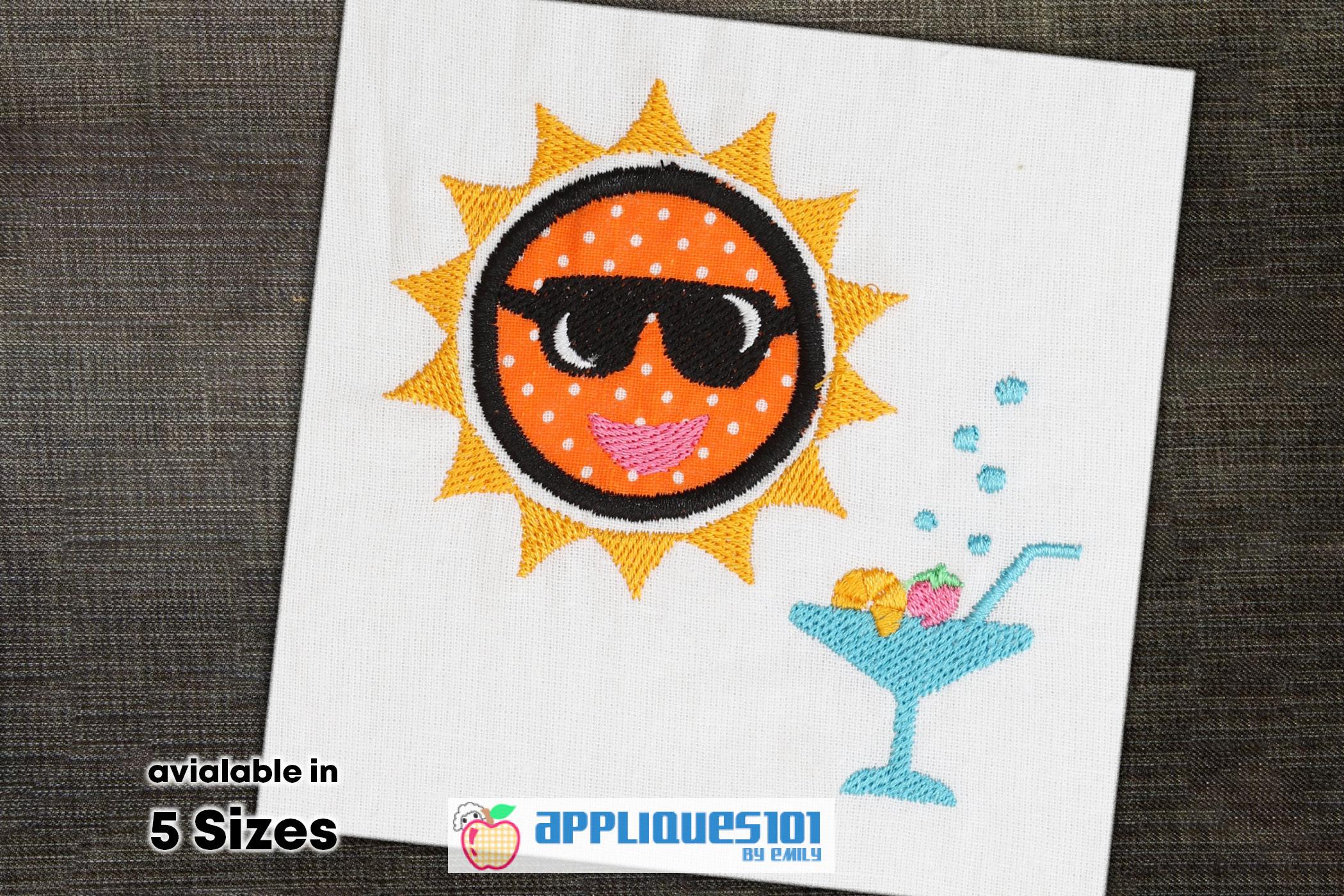 Sunglasses Embroidery Applique Design - Glasses example image 1