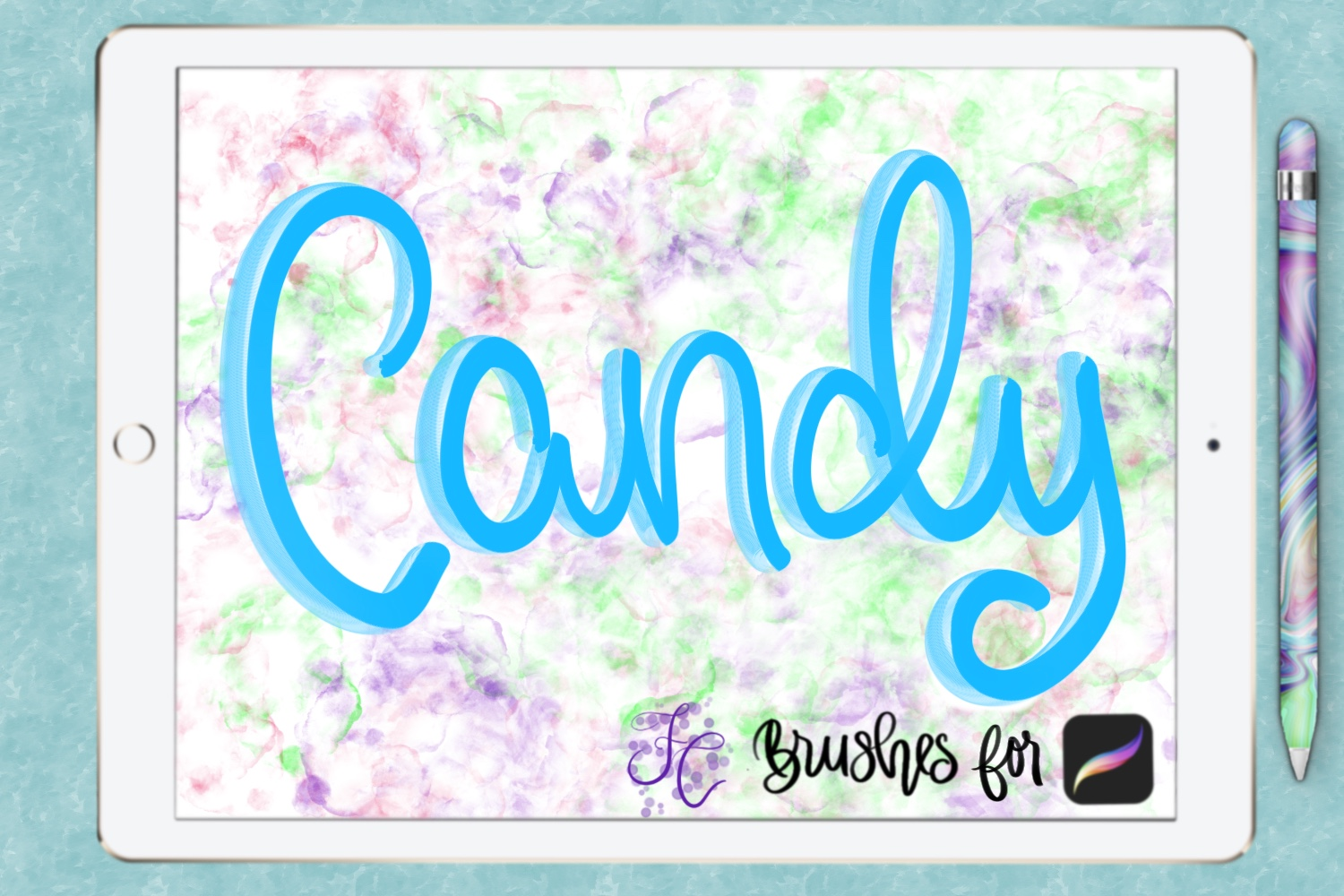 FC-funky lettering set 1 for PROCREATE example image 6