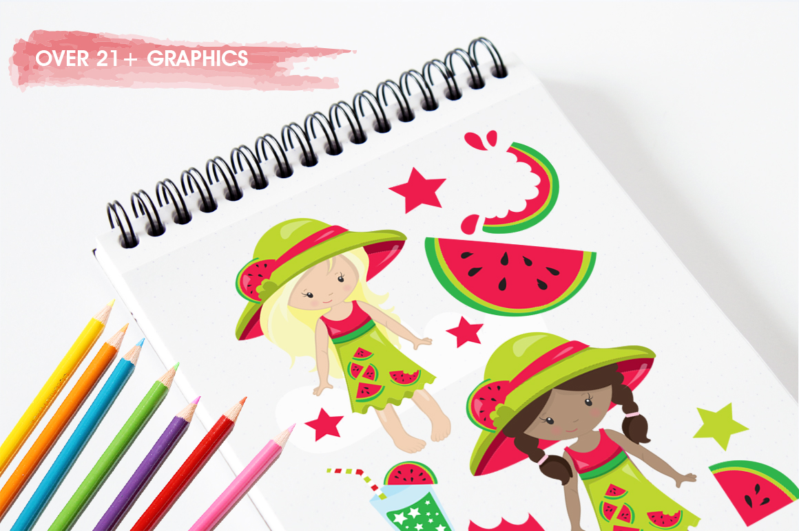 Watermelon Girls graphic and illustrations example image 4