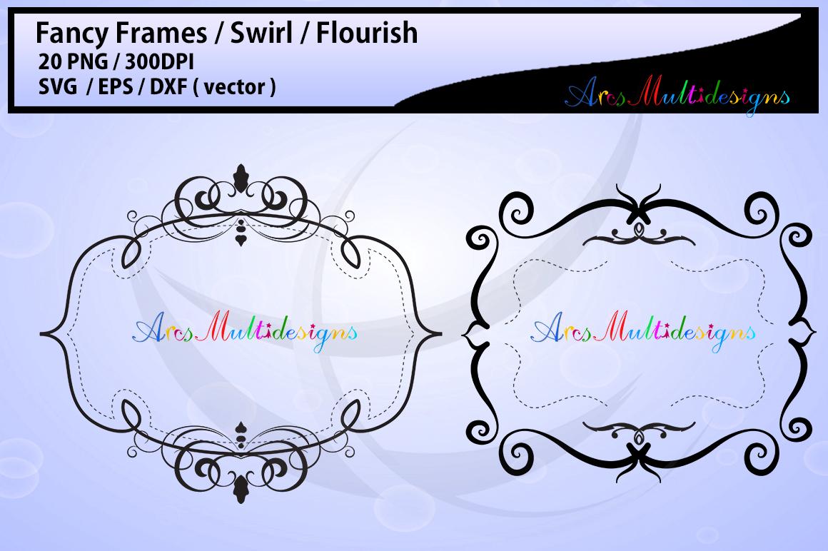 Fancy frames SVG/ fancy labels SVG / frames EPS/ borders / label digital set / borders / backgrounds / frames cut file / empty label frame example image 3