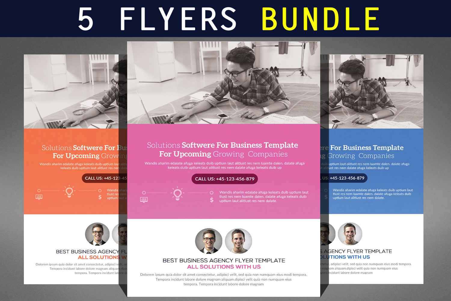 Multipurpose Business Flyer Bundle example image 1