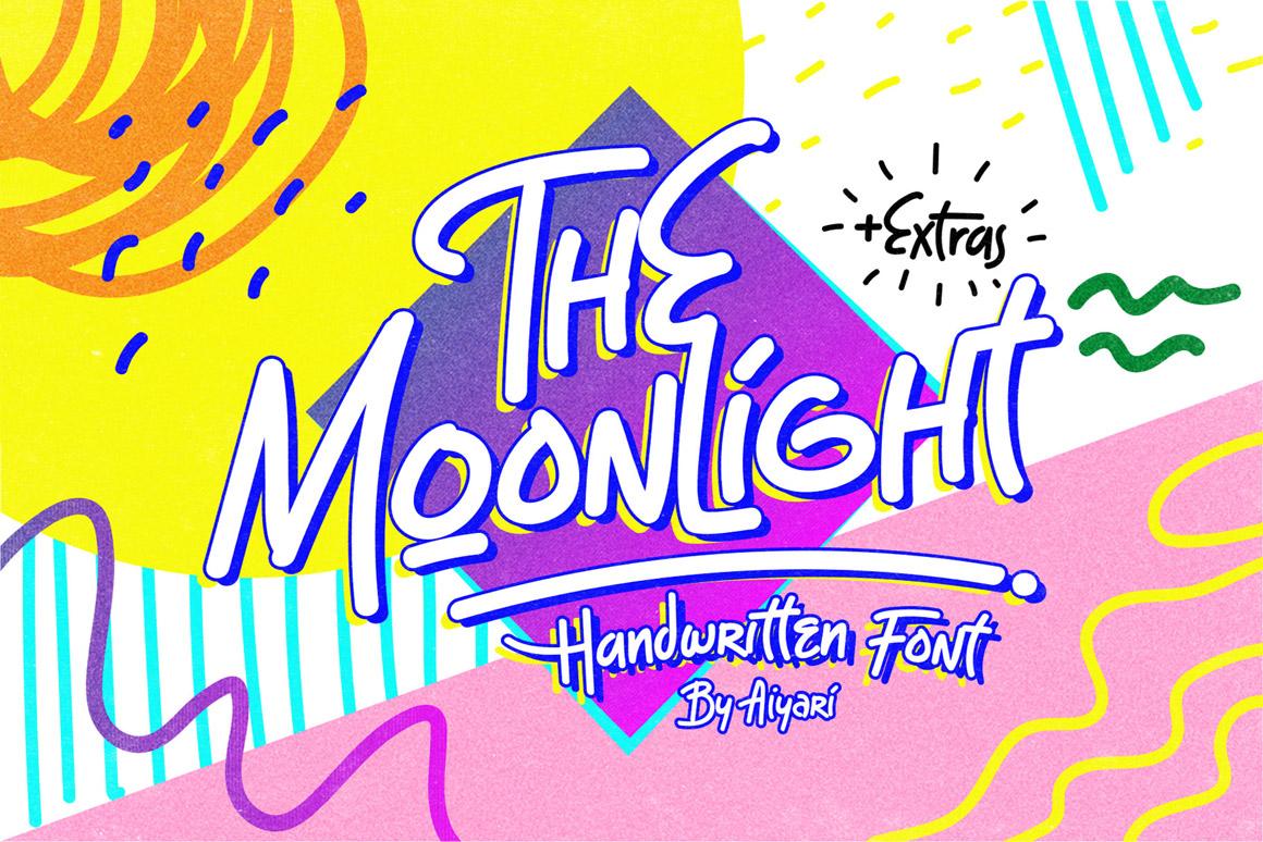 The Moonlight - Handwritten Font example image 1