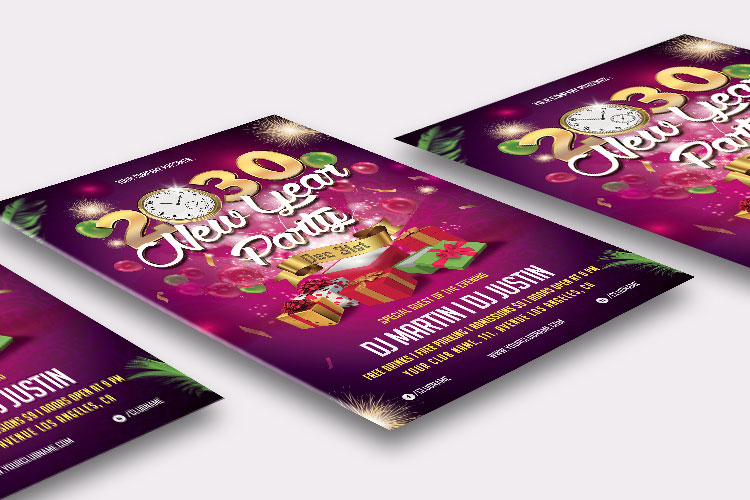 NEW YEAR PARTY FLYER 1 example image 3