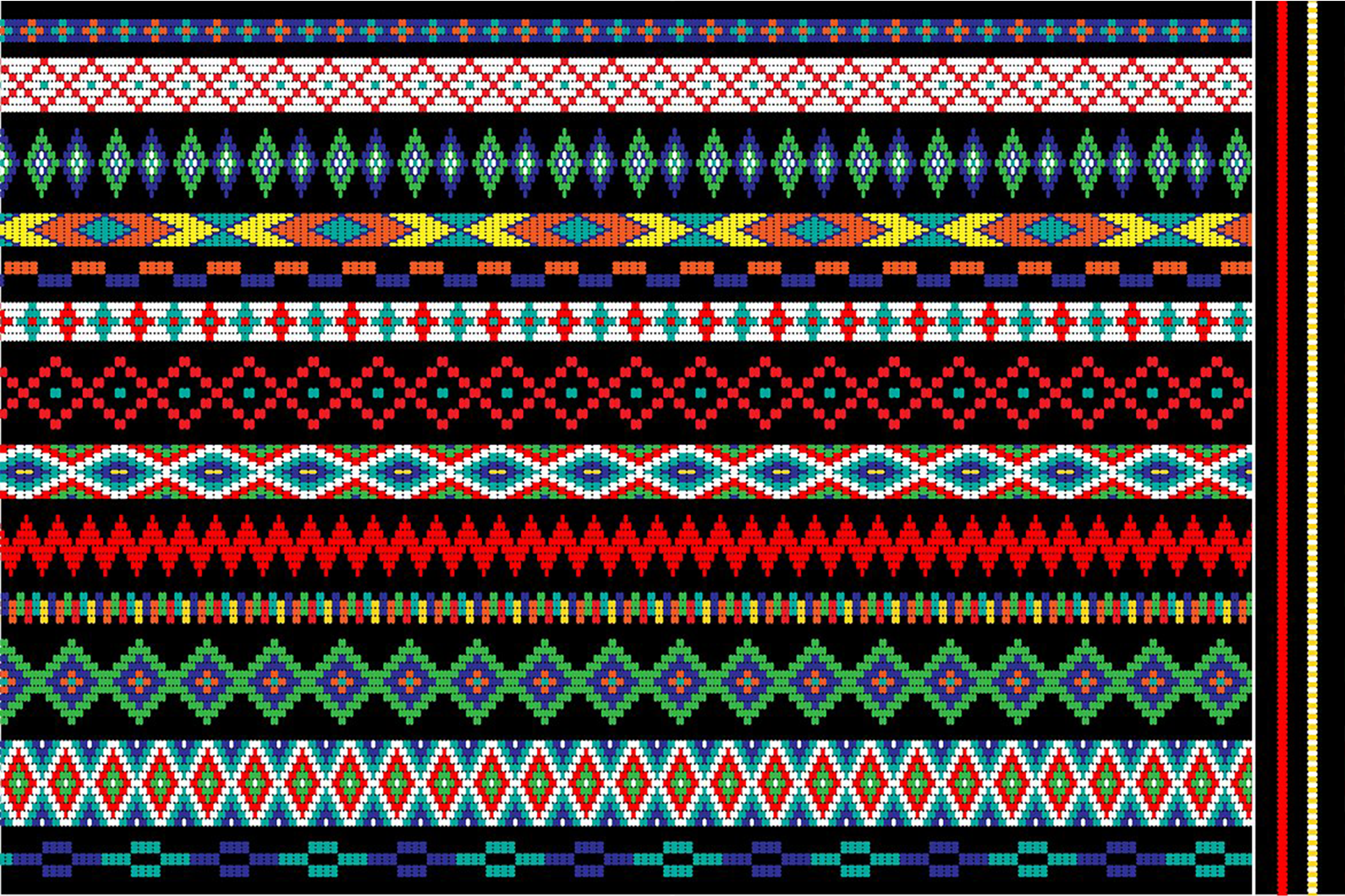 Native American Beaded Border Patterns example image 2