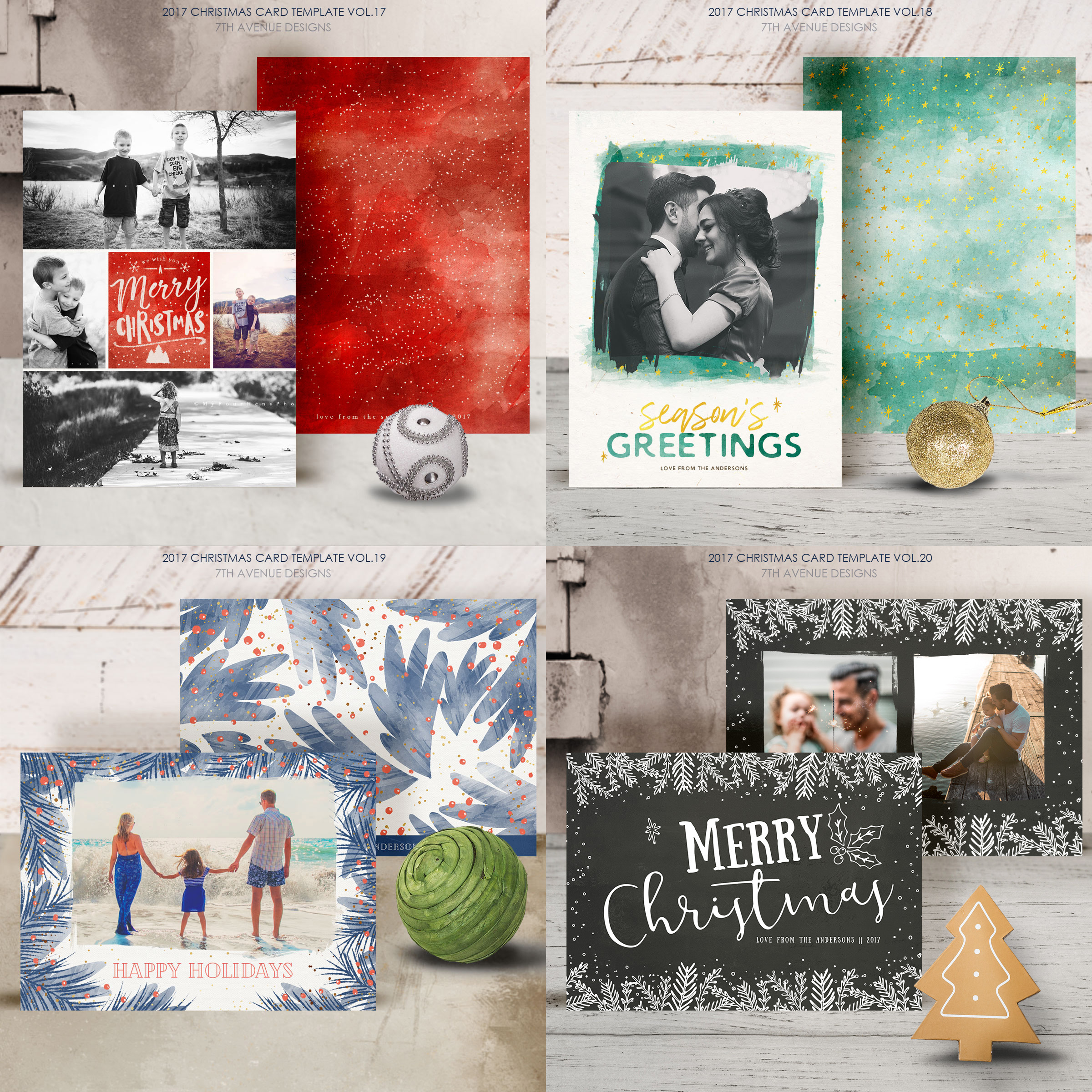 Christmas Cards Template v2 example image 6