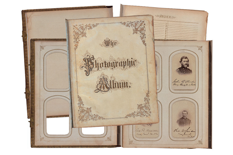 Victorian Era Antique Album Pages Photos Frames - Scrapbook example image 5