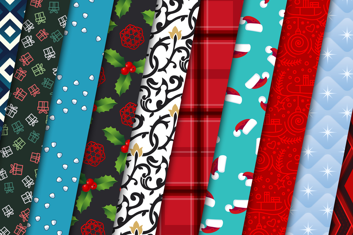 100 Christmas Seamless Patterns example image 10