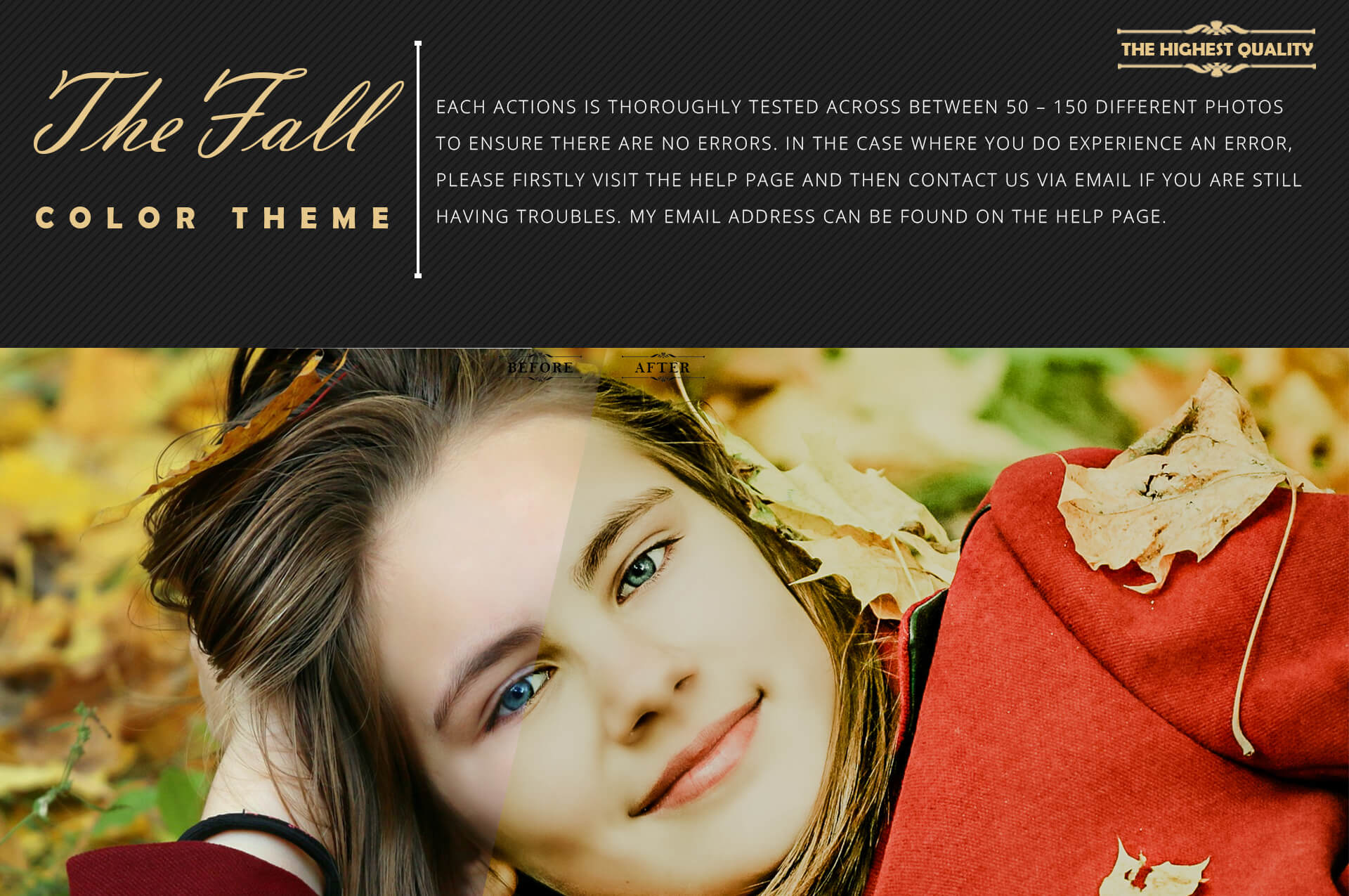 150 Fall Theme Color Grading Premium Photoshop action example image 6