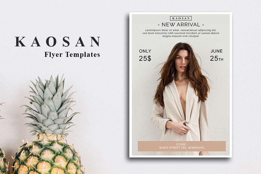 Fashion flyer template Vol 2 example image 1