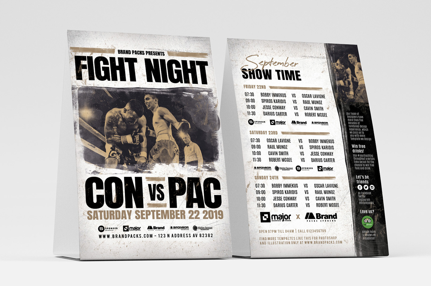 Fight Night Flyer Template example image 4