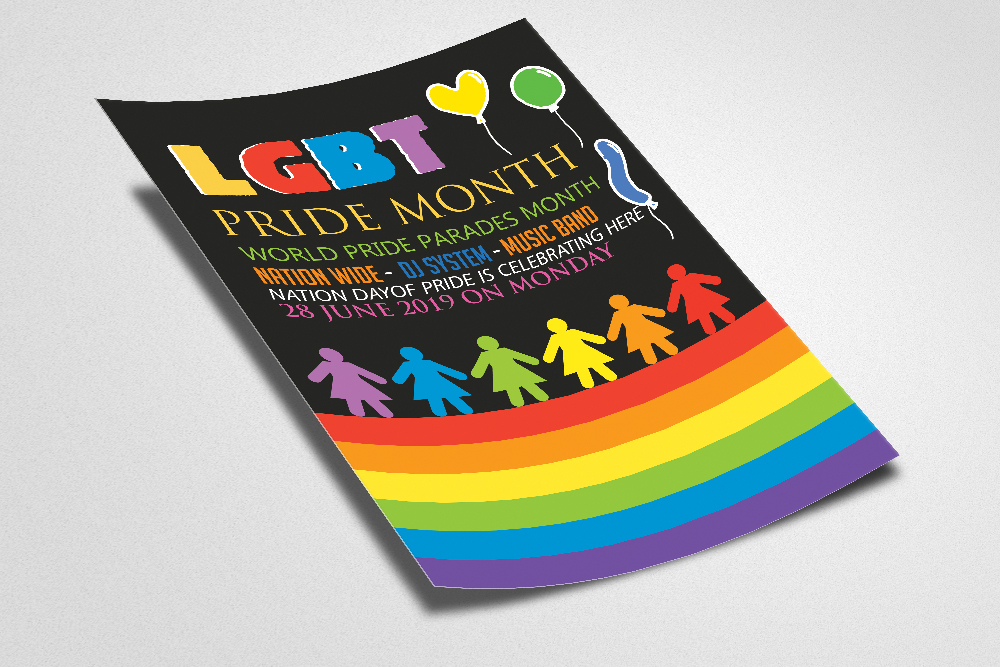 LGBT Pride Party Flyer example image 2