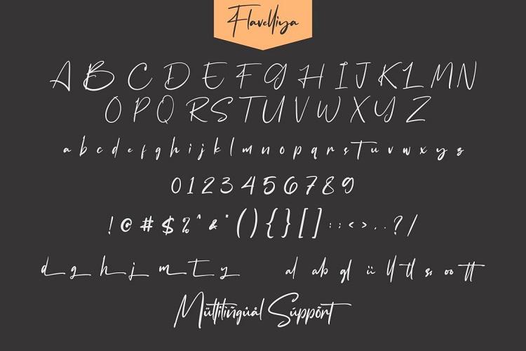 Flavellya - Luxury Signature Font example image 7